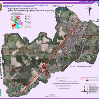 Копии карт границ населенных пунктов в растровом формате